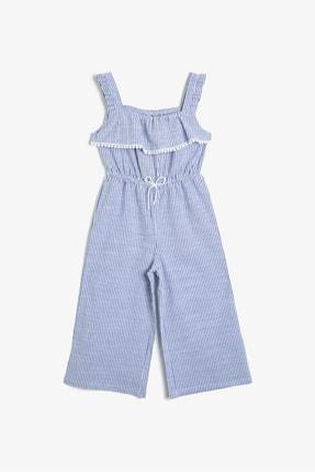 Koton Kids Kız Çocuk Mavi Çizgili Tulum 0YKG48173AW