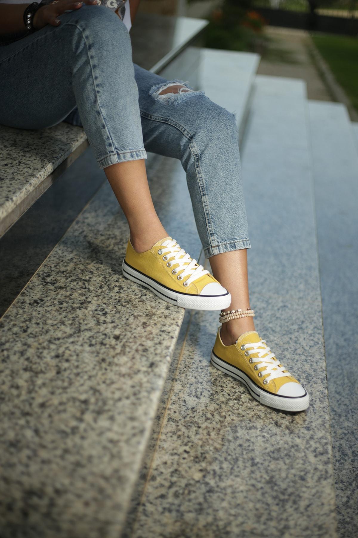 ESPARDİLE Hardal Kadın Spor Ayakkabı 1