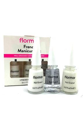 Flormar French Manikür Seti Oje + Parlatıcı Seti Tırnak Bakımı No.319