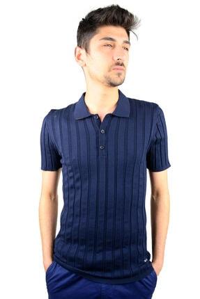 Mcr T-shirt Lacivert Renk Çizgi Model 11196