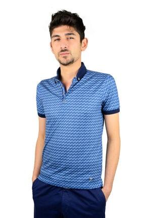 Mcr Polo Yaka T-shirt Çapraz Kare Model 36518