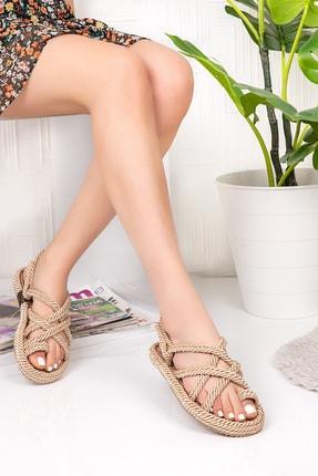 Gondol Halat Örgü Parmak Arası Sandalet