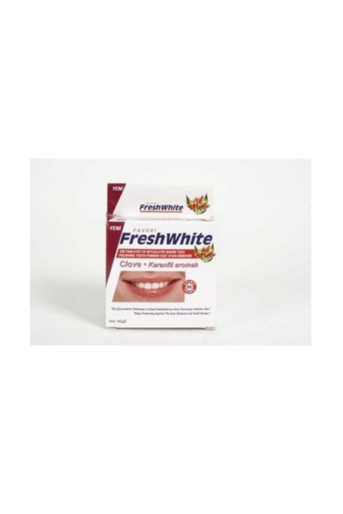 Fresh White Diş Parlatıcı Ve Beyazlatıcı Bakım Tozu Karanfil Aromalı 50G 1
