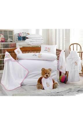 İpekçe Home Ipekçe 10 Parça Nakışlı Bebek Nevresim+bornoz Seti Unicorn