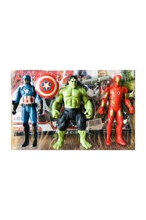 AVENGERS Hulk, Kaptan Amerika Ve Ironman 3 Lü Figür Set Oyuncak