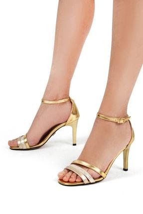 Gökhan Talay Altın Kadın Klasik Topuklu Ayakkabı 18171201