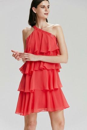 adL Kadın Coral Tek Omuzlu Mini Elbise 124C1432000072