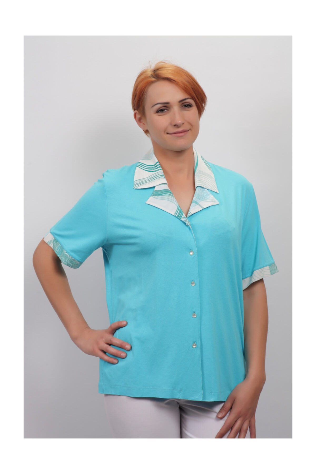 Sude Kadın Kagi Penye Bluz 2141 1