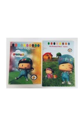 PEPEE 2'li Set-- El Işi Kağıdı 10 Ren + Fon Kartonu 8 Renk