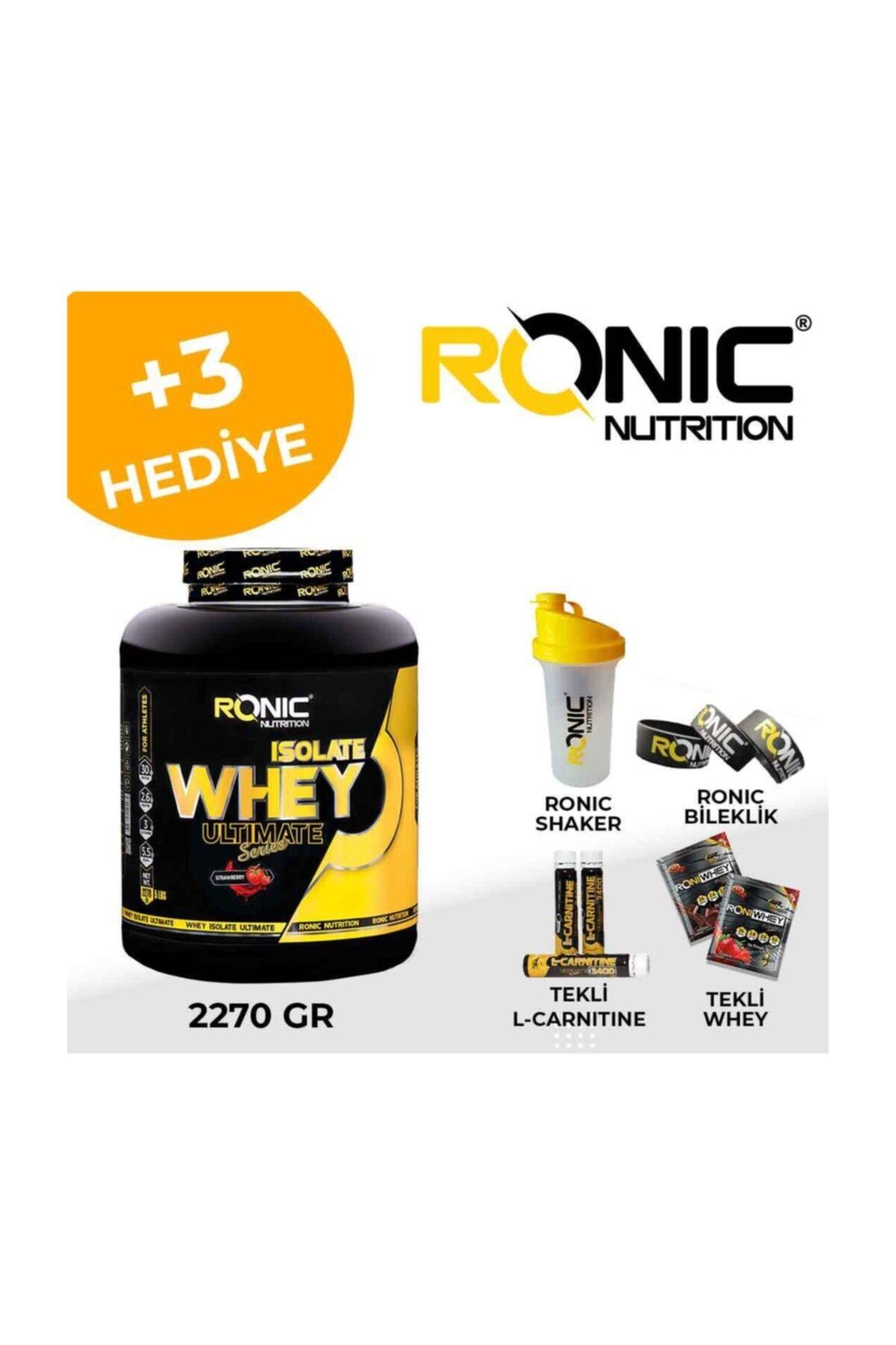 Ronic Nutrition Whey İsolate Protein Tozu Çilek Aromalı 2270 Gr + 3 Adet Hediyeli 2