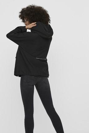 Vero Moda Kadın Siyah Çanta Olabilen Mevsimlik İnce Mont 10222923 VMHARLEM