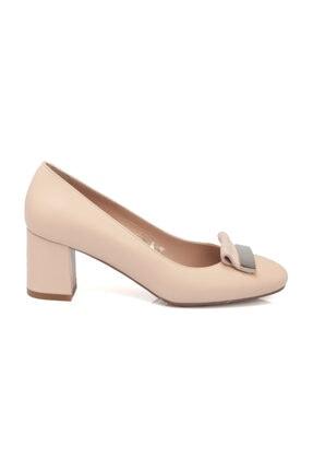 Tergan Pudra Deri Kadın Ayakkabı 64188T40