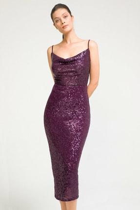 adL Kadın Mor Askılı Elbise 12435887002025