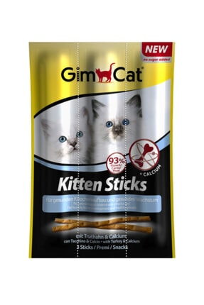 Gimcat Kitten Sticks 6 Paket Hindili Yavru Kedi Ödül Çubukları (1 Paket 3x3 gr)