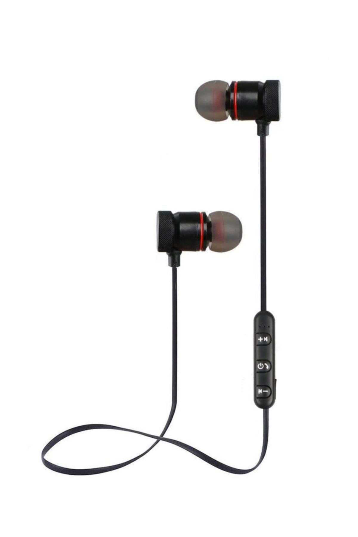 TP Pro Sport Kablosuz Mıknatıslı Mikrofonlu Bluetooth Kulaklık Siyah 2