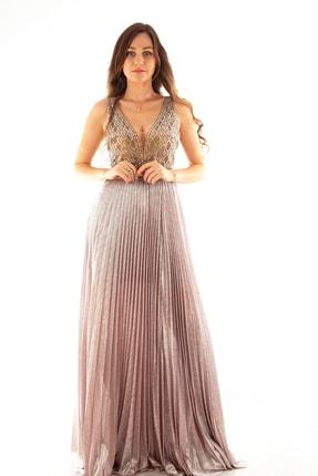 Ardanewline Kadın Pudra Abiye & Mezuniyet Elbisesi 1301442-10