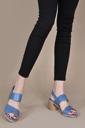 Vizon Ayakkabı Kadın Mavi Sandalet Vzn20-078y