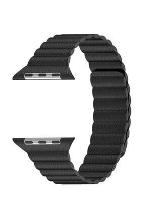 Aksesuarcım Apple Watch 2. Nesil 38 mm Mıknatıslı Deri Loop Saat Kordonu