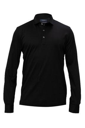 Lufian Erkek Siyah Asil Spor Polo T- Shirt 111040064100100