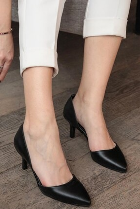Mio Gusto Siyah Kadın Topuklu Ayakkabı 009035BL