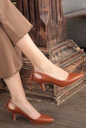 Mio Gusto Taba Kadın Topuklu Ayakkabı 009037TA