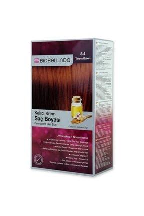 BioBellinda Amonyaksız Ve Kokusuz Kalıcı Krem Saç Boyası - 8.4 Tarçın Bakırı Badem Yağı Ve C Vitamini