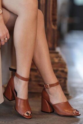 Mio Gusto Daisy Kahve Topuklu Ayakkabı