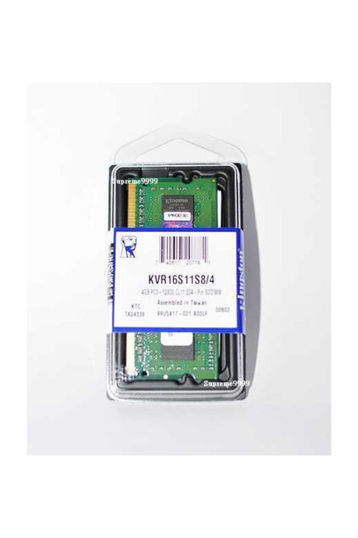 Kingston 4 GB DDR3 1600 MHz KINGSTON CL11 SODIMM (KVR16S11S8/4G) 1