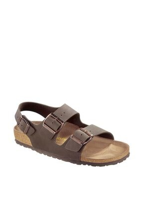 Birkenstock Mılano Nubuk Kahverengi Sandalet 00634503
