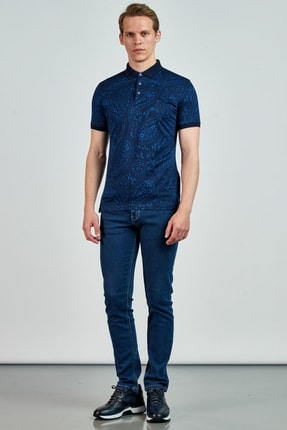 Giovane Gentile Erkek Lacivert T-Shirt LB0650201895