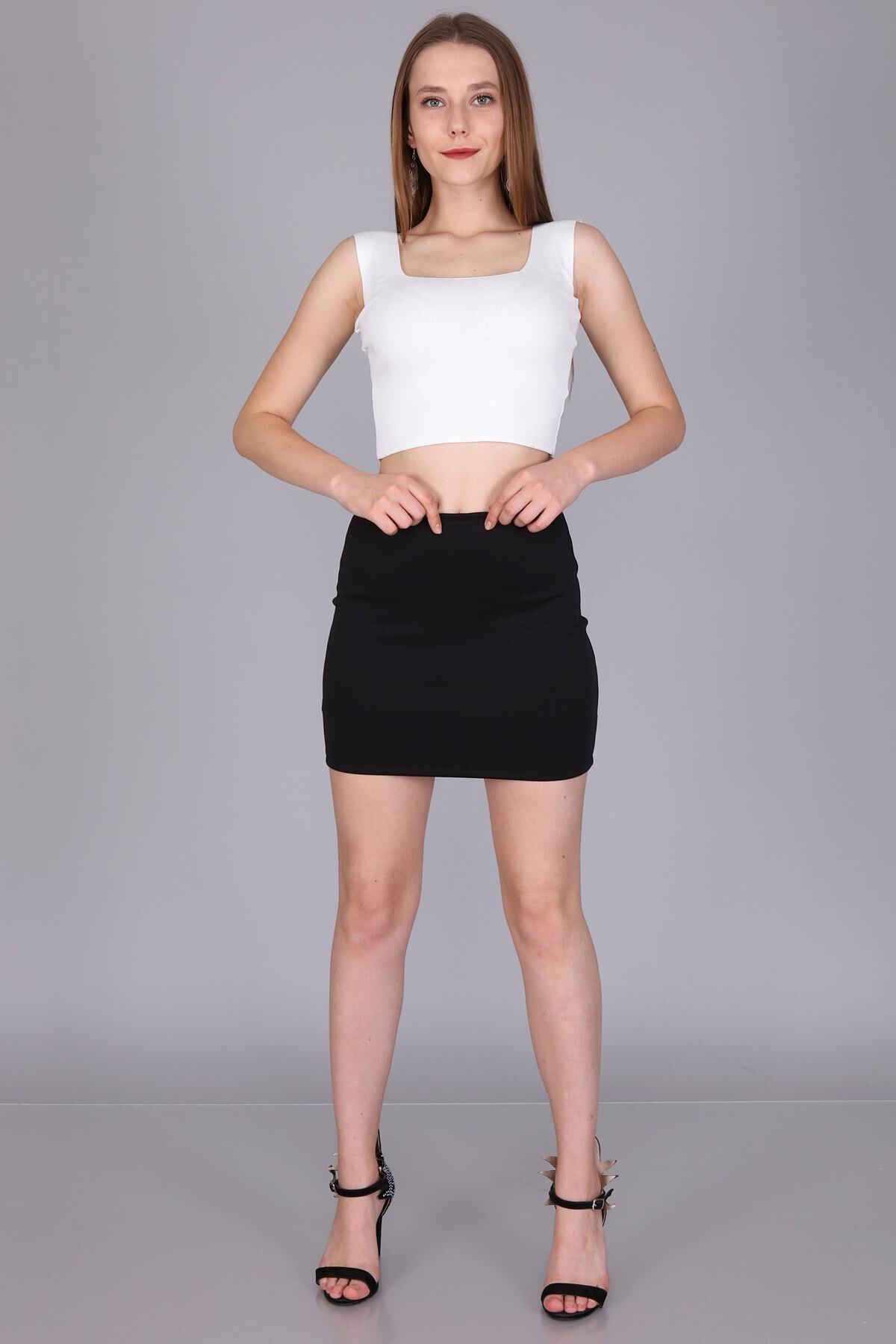 Mi&So Kadın Siyahdalgiç Mini Etek M&S6039Etk