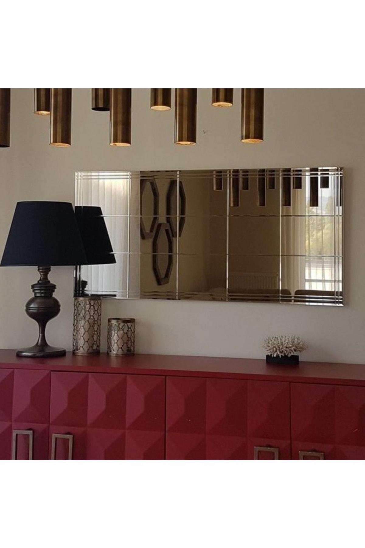Vivense Neostill-Bronz Ayna Dekoratif Desenli Duvar Salon Konsol A308-Y 1