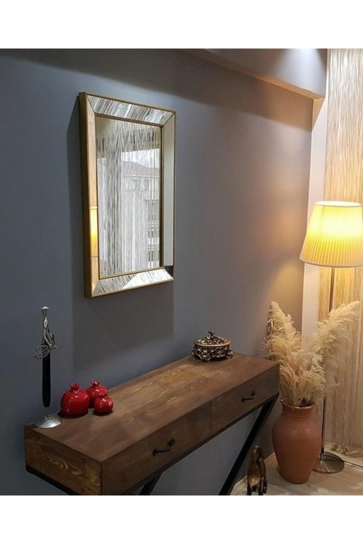 Vivense Neostill Dekoratif Duvar Salon Ofis Çerçeveli Ayna A403B 1