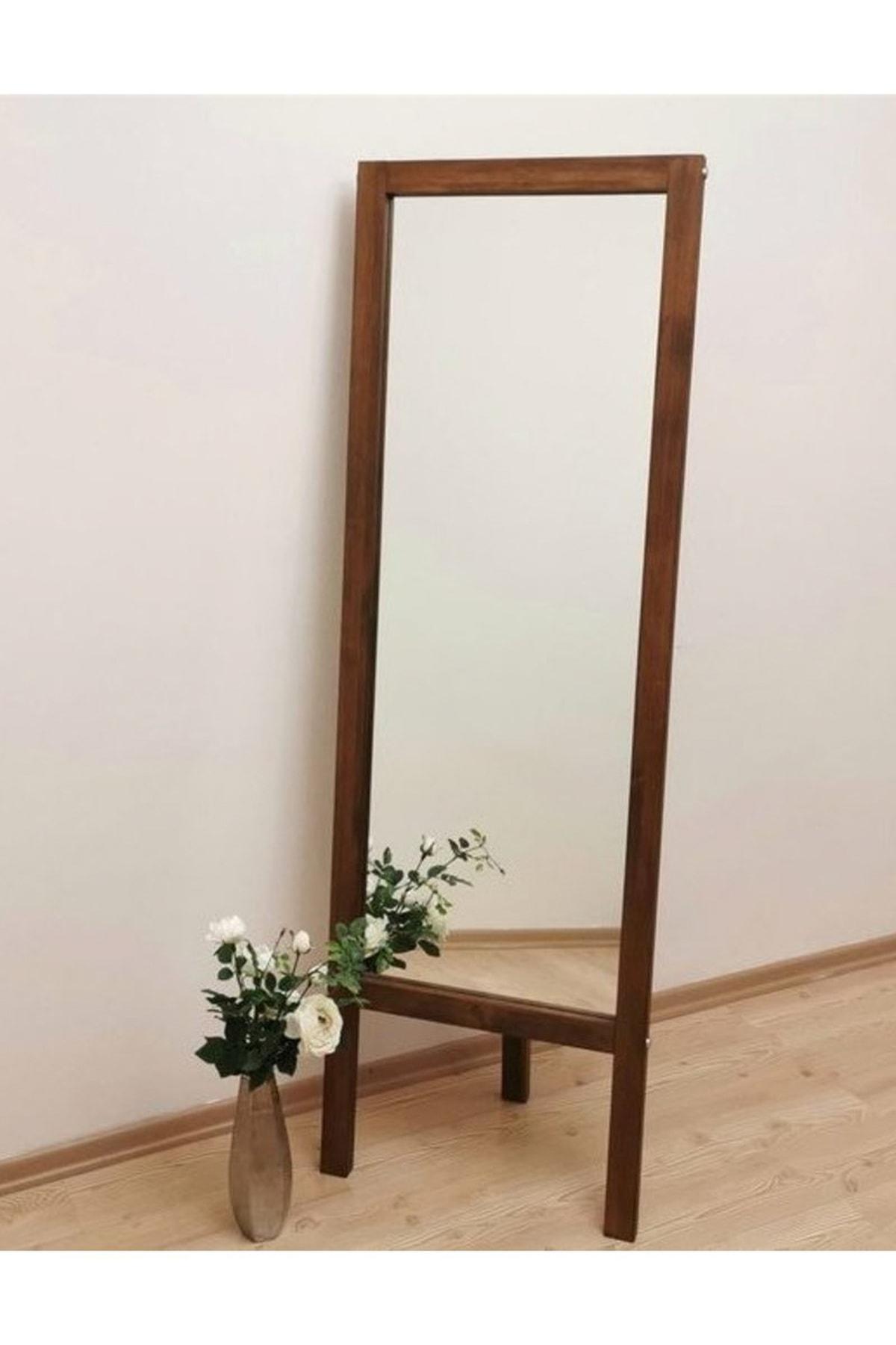 Vivense Neostill-Ayaklı Boy Ayna Masif Doğal Ahşap Ceviz 55X170 2