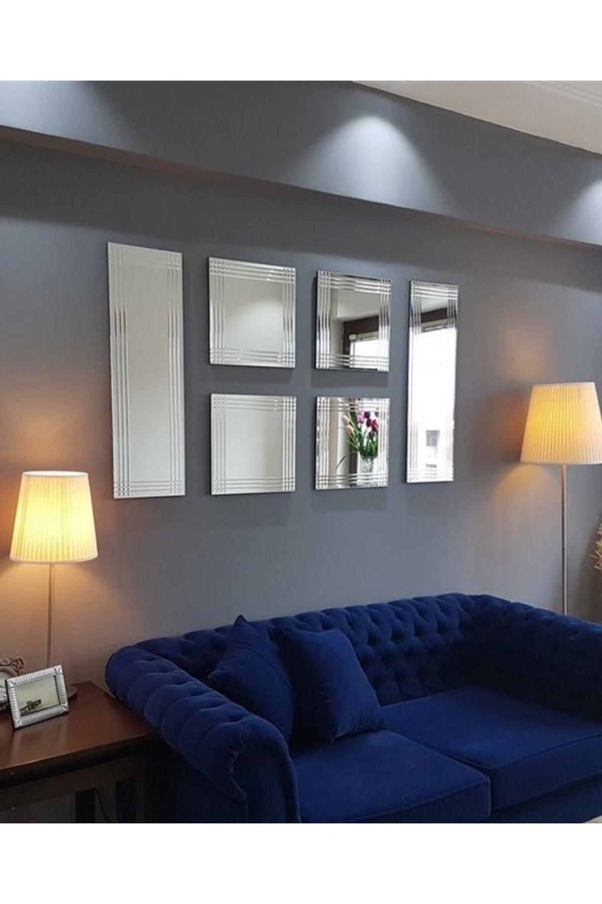 Vivense Neostill 6 Lı Dekoratif Salon Duvar Ayna A401A 2