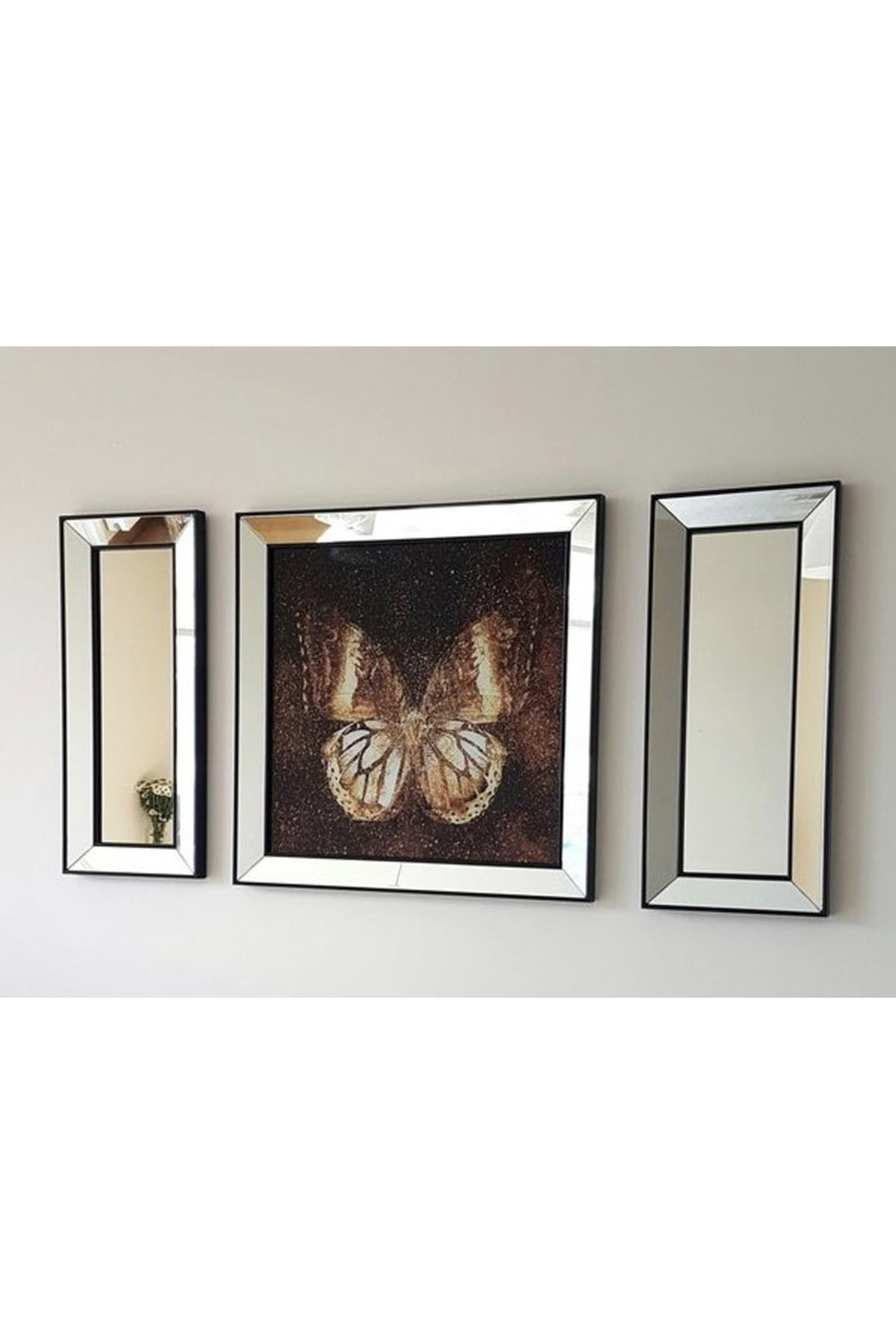 Vivense Neostill Ayna Çerçeveli Tablo Temperli Cama Uv Baskı T811 1