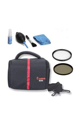 HLYPRO Canon 200d Için Set Çanta +gorilla Pod+temizleme Kiti