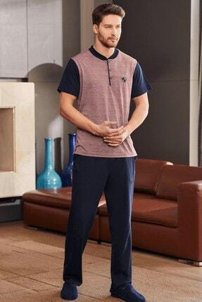 Mecit Pijama Erkek Jakarlı Kısa Kol Pijama Takımı 2755