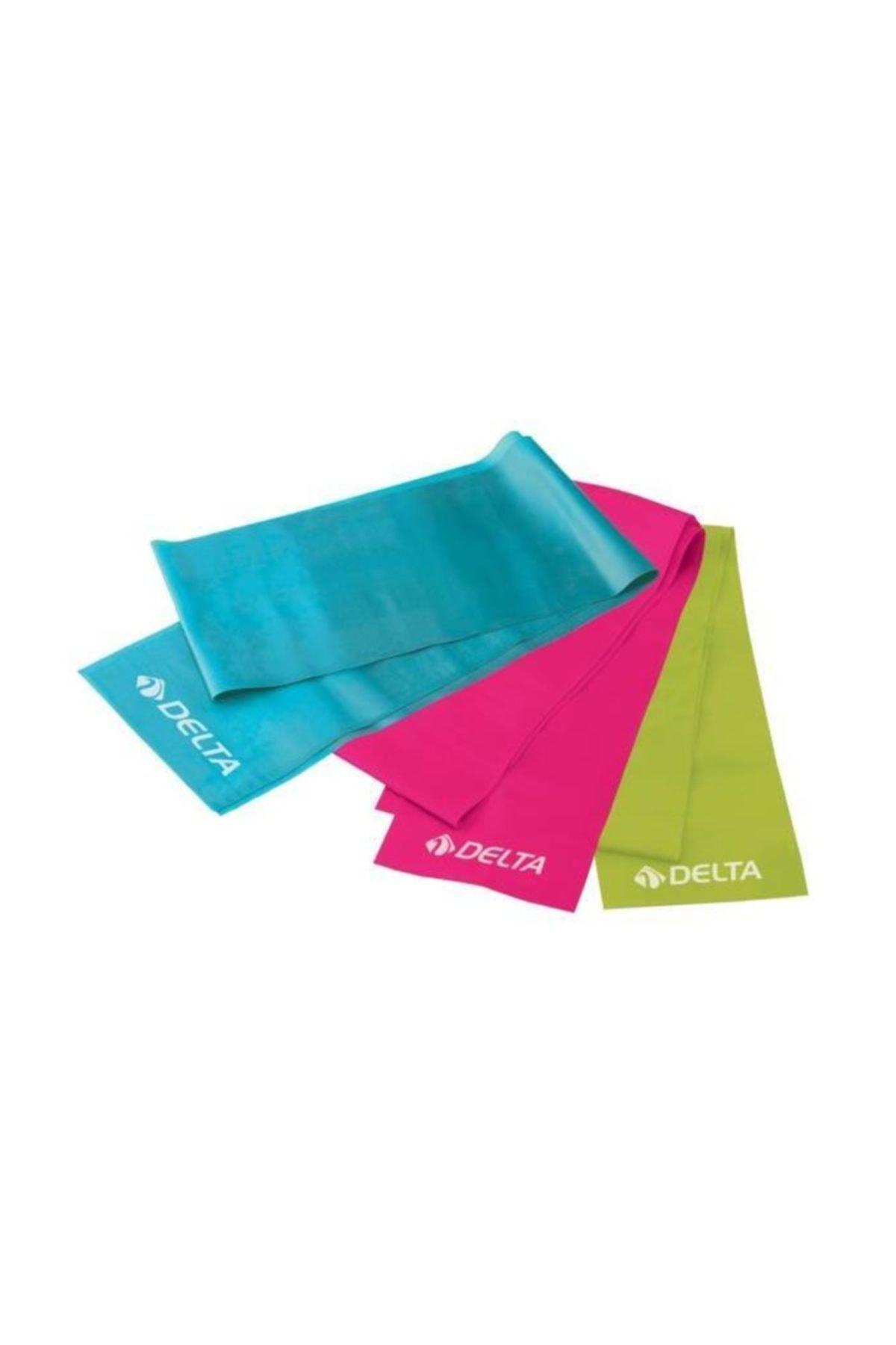 Delta 3 'lü Pilates Bandı Plates Egzersiz Direnç Lastiği Seti 1