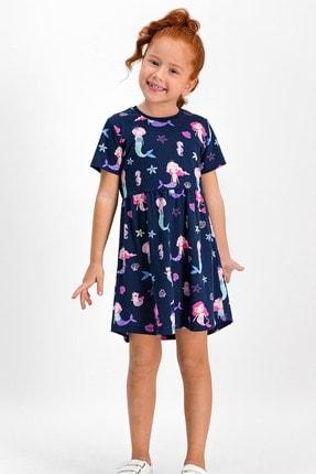 ROLY POLY Sea Life Lacivert Kız Çocuk Homewear Elbise