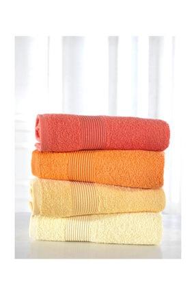 Nakkısh %100 Pamuk Renkli 4'lü Havlu Seti- Sarı