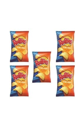 Ruffles Peynir Ve Soğan Aroma Çeşnili Patates Cipsi X 5 Ad
