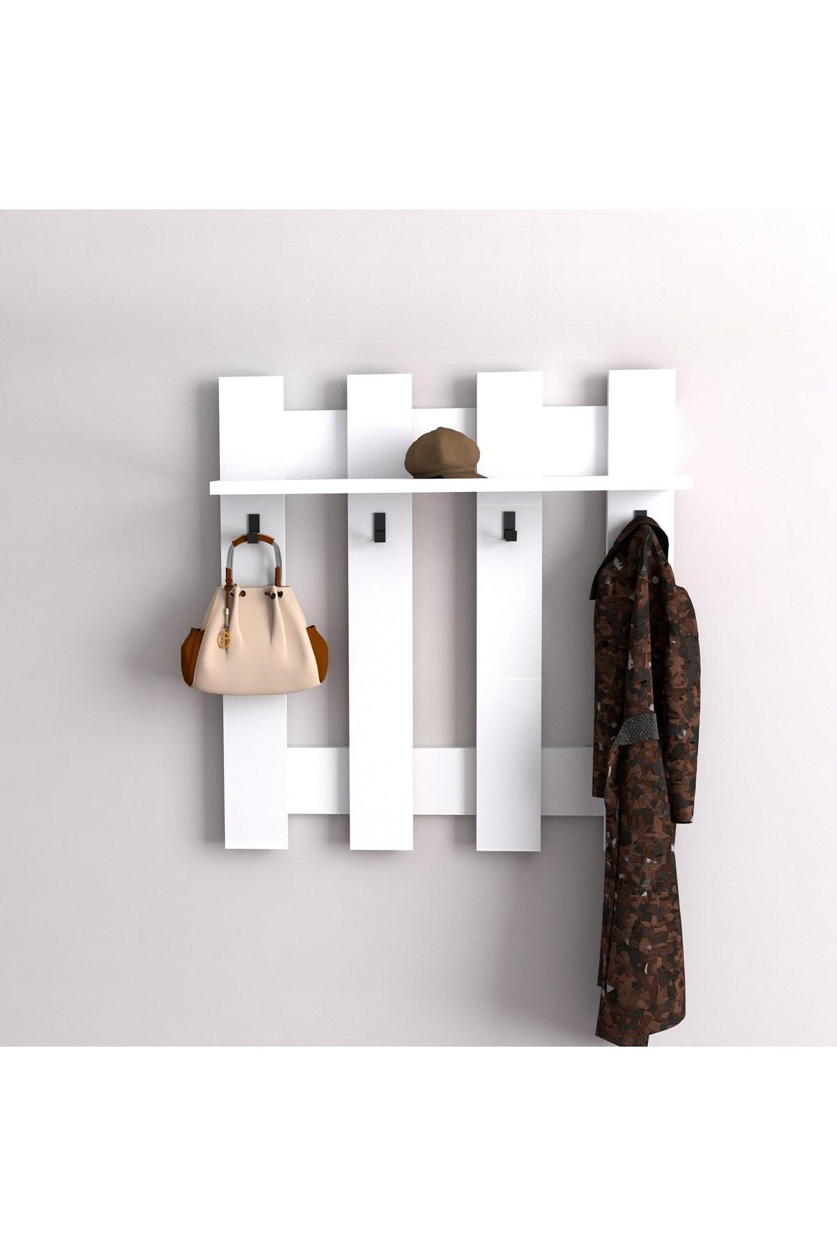 Puzzle Design Carina Beyaz Askılık