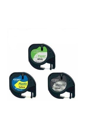 HP Letratag Etiket 10 Adet 59421 12M X 4Mm Sarı Plastik Etiket
