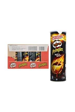 Pringles Hot & Spicy Patates Cipsi 165 Gr X 19'lu Koli