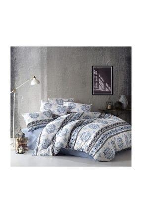 İpekçe Home Eva Serisi Çift Kişilik Uyku Seti Infinity Mavi