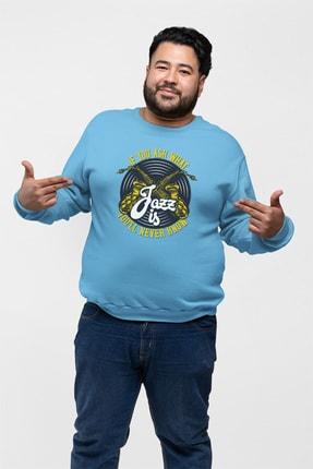 Angemiel Wear Jazz Ve Saksafon Mavi Erkek Sweatshirt