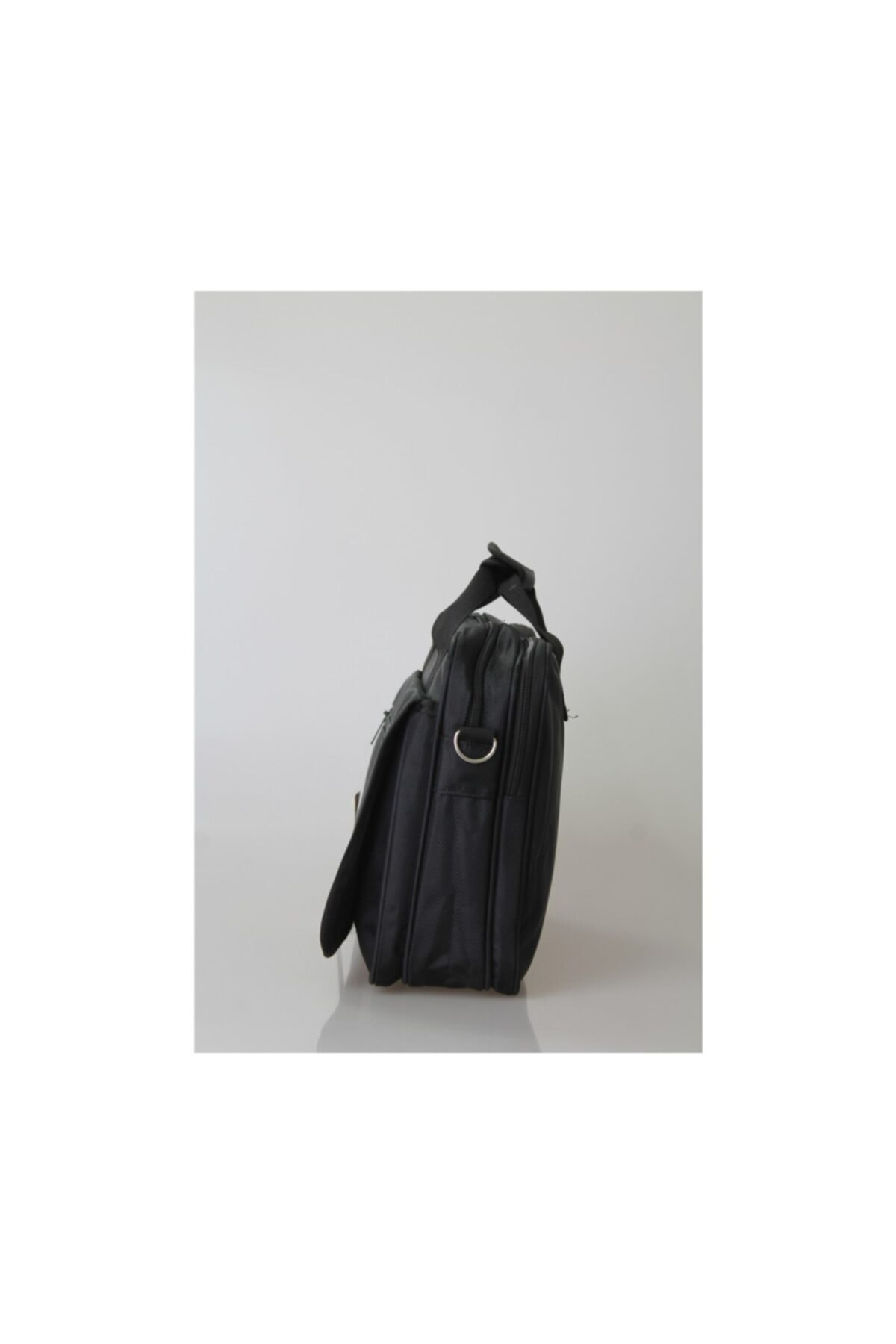 CAKARD Omuz Askılı Kumaş Evrak Çantası Siyah 2