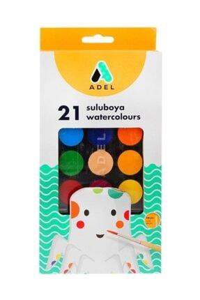 Adel 21 Renk Sulu Boya Seti - Büyük Boy Jumbo