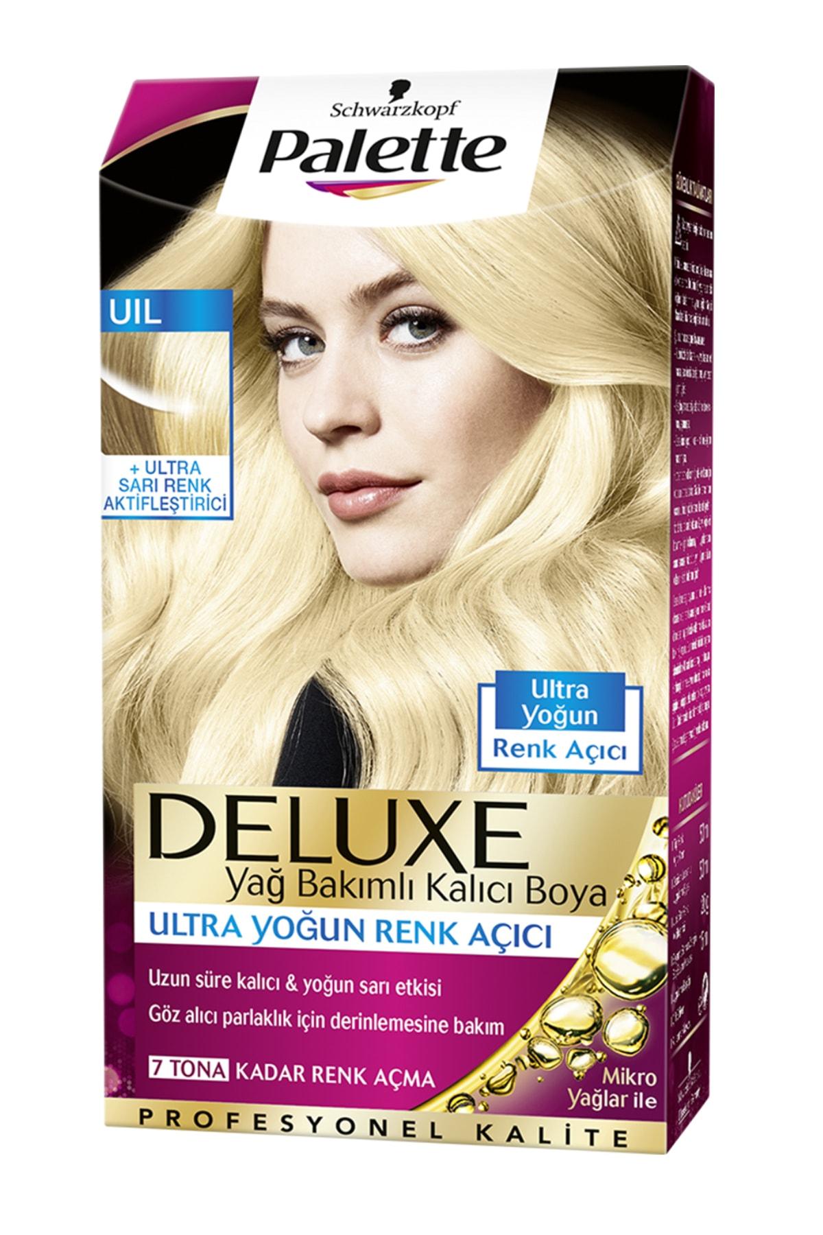 SCHWARZKOPF HAIR MASCARA Palette Deluxe Ultra Yoğun Renk Açıcı, Sarı Renk Aktifleştirici - Yağ Bakımlı Kalıcı Saç Boyası 1